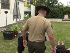 Hot Marine Tickle Fight Crashed by Angry Gunnery Sergeant
