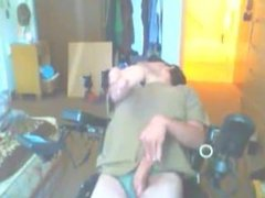 disabled guy masturbates with dirty talk