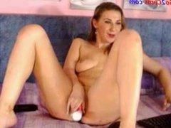Go2Cams.com - masturbating feet show and cum in mouth