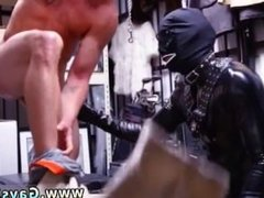A straight gay man erection movieture Dungeon tormentor with a gimp