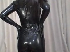 Japanes latex catsuit 7
