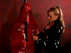 latex slave get wrapped