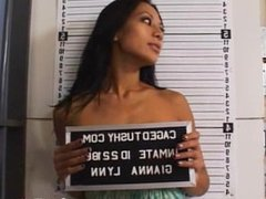 She was arrested for shop lifting and brought down to jail to get searched