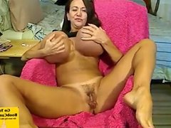 Dirty Hot MILF Plays With Her Massive Tits