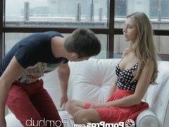 PornPros - Angelica insanely hot hotel lobby fuck