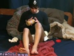 Gay sex licking boy He slathers the peanut butter all over his toes