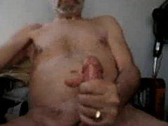 Silver daddy jerk off 3