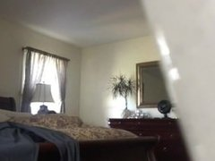 Spy cam guy getting undressed