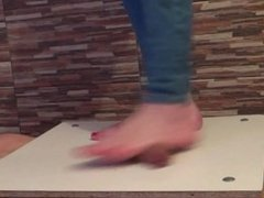 Barefeet Cock And Balls Trample Crushing - crazy stomping