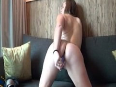 Amature playing with her pussy