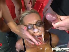 German Goo Girls -  Facial Cumshots compilation