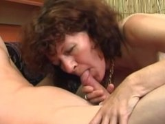 Old Hot Milf Fucked by young boy with facial