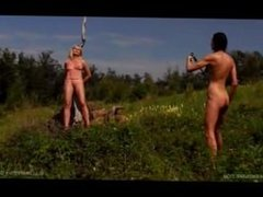 Extreme whipping with a bull whip