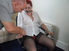 chair tied and gagged