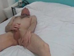 Horny Angel dominate and fuck Grandpa with strapon