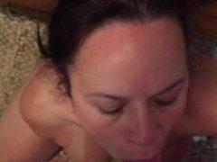 Latin milf titty fuck blowjob and cumshot