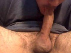 Big white dick cumshot