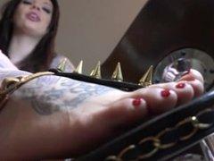Slobber at my feet, slave!