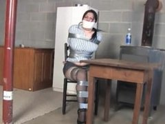 Derek Synclair All taped up and microfoam tapegagged