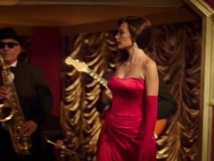 Long Red Satin Gloves - movie