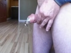 Cumshot with Penis Plug