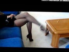 Tranny Has Fun With Her Furniture