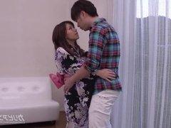 MILF in yukata having affair with young man - akino chihiro