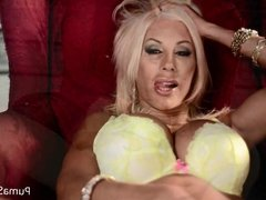Puma Swede Cums with Toy in Lingerie!