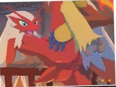(Pokemon) Blaziken and Infernape!