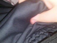 Massaging my limp cock