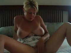 Tanlined Milf Works Her Pussy