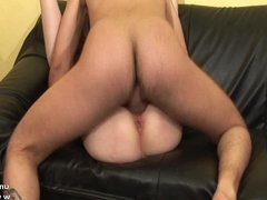 Casting Gorgeous french redhead hard sodomized n facialized