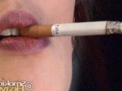 Sensual cork smoking and undressing