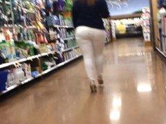 High Heels White Pants