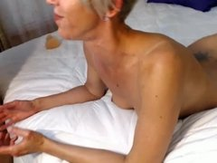 hot blonde facial and cumshot in mouth