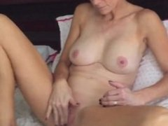 My smoking mummy masturbating for me sexy mummy