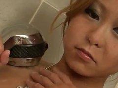 Yuno Shirasu serious pussy play in the shower