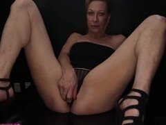 Nasty Mature Blonde Gangbanged And Creampied