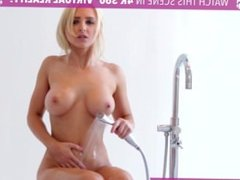 Hot blond caught by BF in Virtual Reality 360°