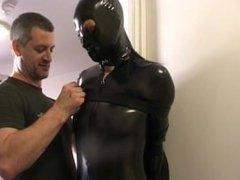 pvc catsuit bondage