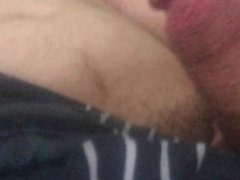 Stroking my fat cock