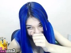 deals with blue hair - more girls in camsluxury.com
