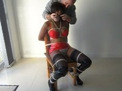 chair tied clamp and gagged