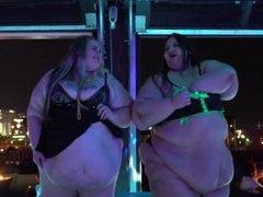 BBW Pornstars Strip at Hustler Club Las Vegas