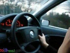 Hot MILF Smoking in Car, Amateur