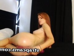 Cute Redhead Teen Webcam Toying