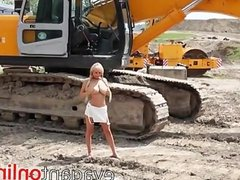 Hot blonde on webcam