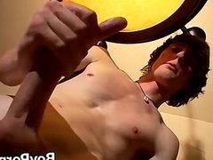 Solo twink masturbating on the table