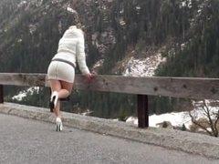a la montagne...