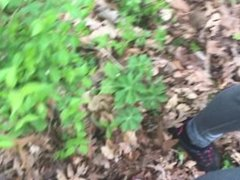 Fucking in the woods with a cumshot finish